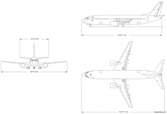 boeing 737 400 model airplane plan
