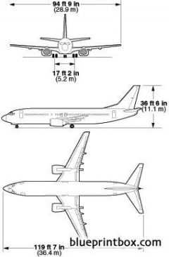 boeing 737 400 1 model airplane plan
