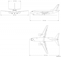 boeing 737 500 model airplane plan