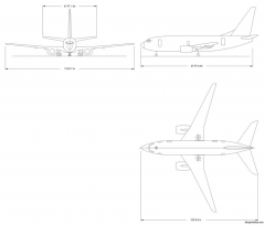 boeing 737 600 model airplane plan