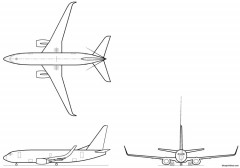 boeing 737 700w model airplane plan