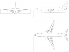 boeing 737 800 model airplane plan
