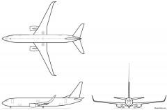 boeing 737 800w model airplane plan
