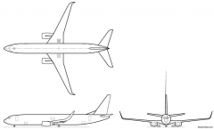 boeing 737 900w model airplane plan