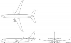 boeing 737 bbj2 model airplane plan