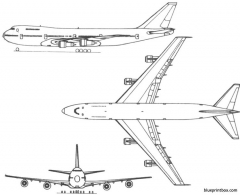 boeing 747 model airplane plan