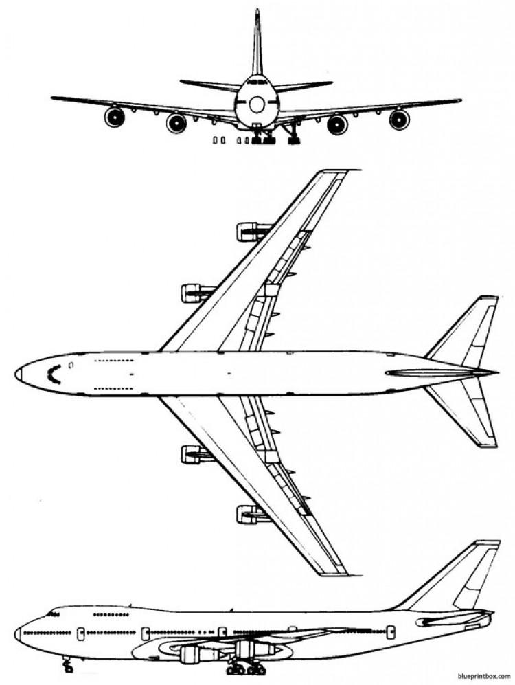 boeing 747 2 model airplane plan