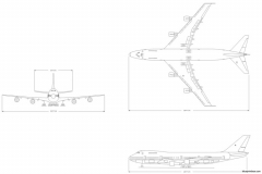 boeing 747 200 model airplane plan