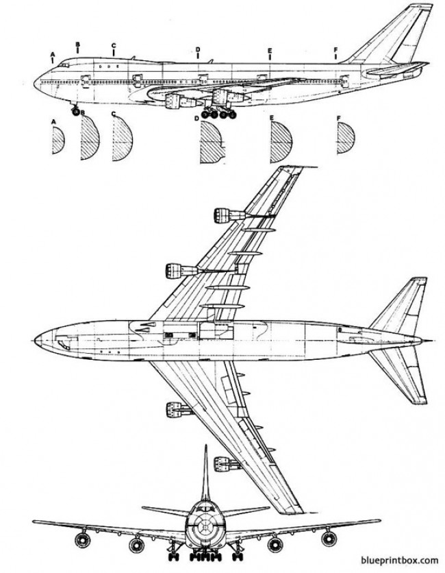 boeing 747 2 2 model airplane plan