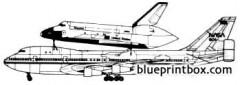 boeing 747 jumbo space shuttle model airplane plan