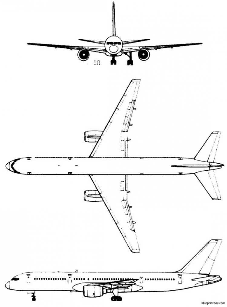 boeing 757 2 model airplane plan