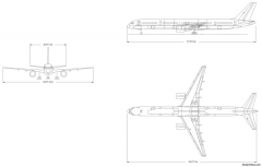 boeing 757 300 model airplane plan