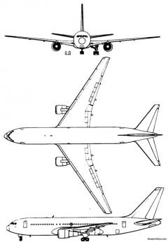 boeing 767 2 model airplane plan