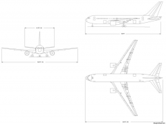 boeing 767 200 model airplane plan