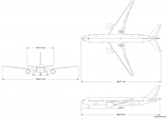 boeing 777 200 model airplane plan