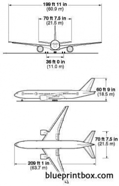 boeing 777 200 1 model airplane plan