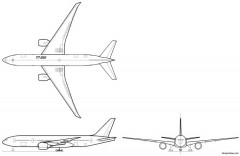 boeing 777 200lr model airplane plan