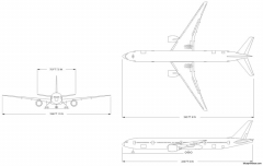 boeing 777 3 model airplane plan