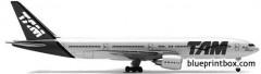 boeing 777 300er 2 model airplane plan