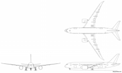 boeing 787 8 model airplane plan