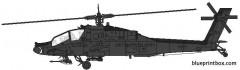boeing ah 64a apache model airplane plan