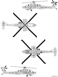 boeing ah 64d apache model airplane plan