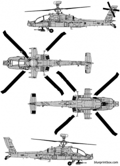 boeing ah 64d apache longbow model airplane plan