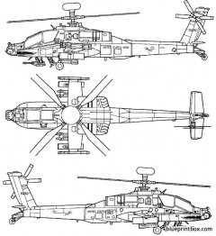 boeing ah 64d apache longbow 2 model airplane plan