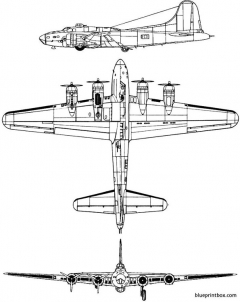 boeing b 17f flying fortress model airplane plan