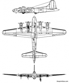 boeing b 17f flyingfortress model airplane plan
