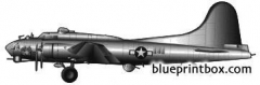boeing b 17f stratofortress model airplane plan