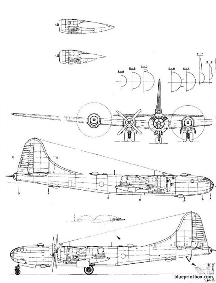 boeing b 29 superfortress model airplane plan