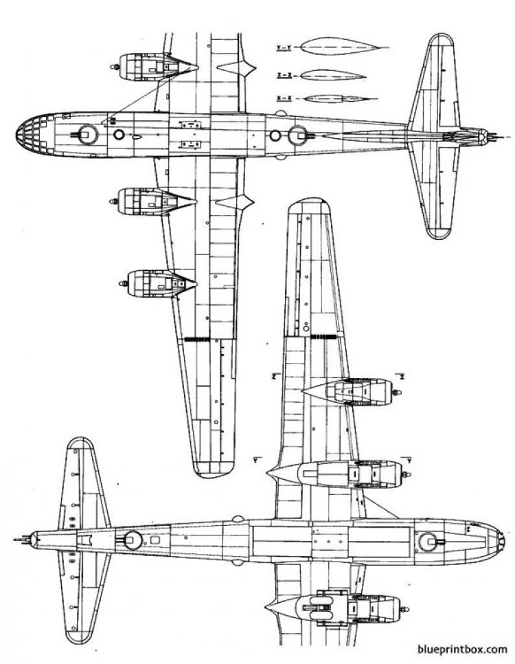 boeing b 29 superfortress 2 model airplane plan