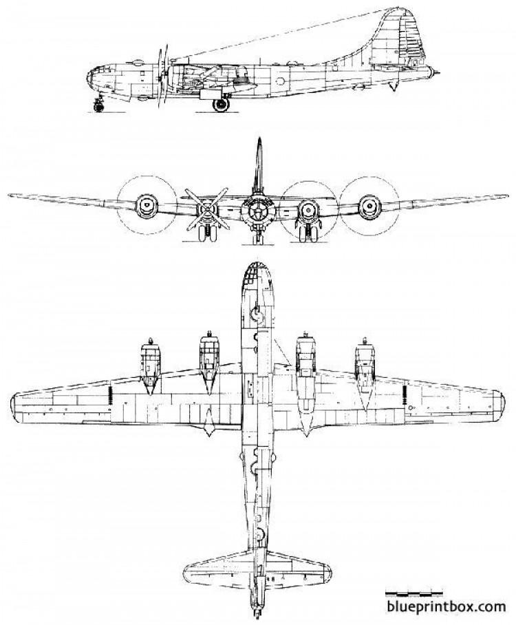 boeing b 29 superfortress 2 2 model airplane plan