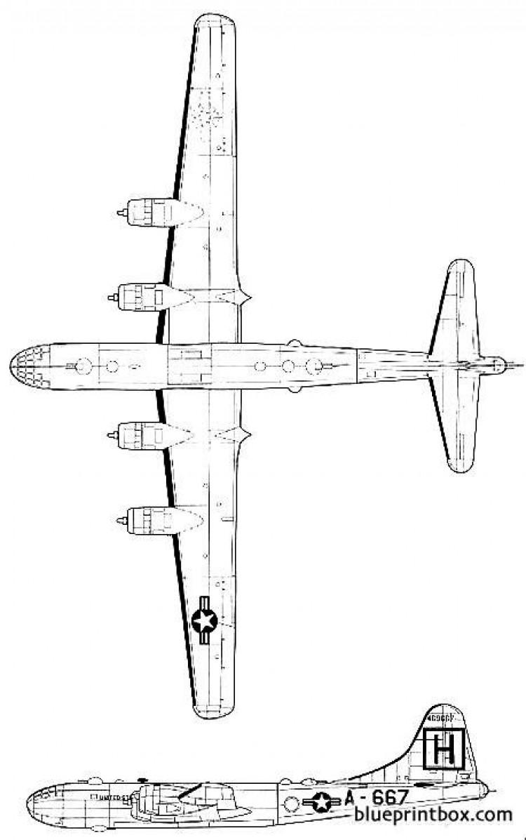 boeing b 29 superfortress 3 model airplane plan