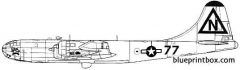 boeing b 29a superfortress bocks car model airplane plan