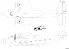 boeing b 314 clipper 12 model airplane plan