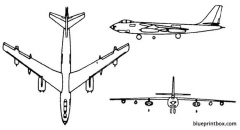 boeing b 47 stratojet model airplane plan