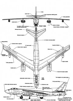boeing b 47e stratojet model airplane plan