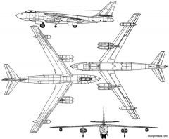 boeing b 47e stratojet 2 model airplane plan