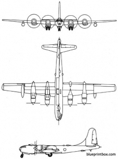 boeing b 50 1947 usa model airplane plan