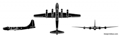 boeing b 50 superfortress 3 model airplane plan
