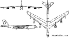 boeing b 52 stratofortress 2 model airplane plan