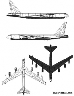 boeing b 52f stratofortress model airplane plan