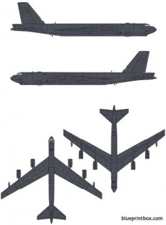 boeing b 52g stratofortress model airplane plan