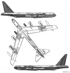 boeing b 52h stratofortress 2 model airplane plan