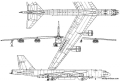 boeing b 52h stratofortress 3 model airplane plan