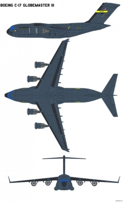 boeing c17 globemaster iii model airplane plan