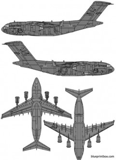boeing c 17a globemaster iii model airplane plan