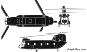 boeing ch 47 chinook model airplane plan
